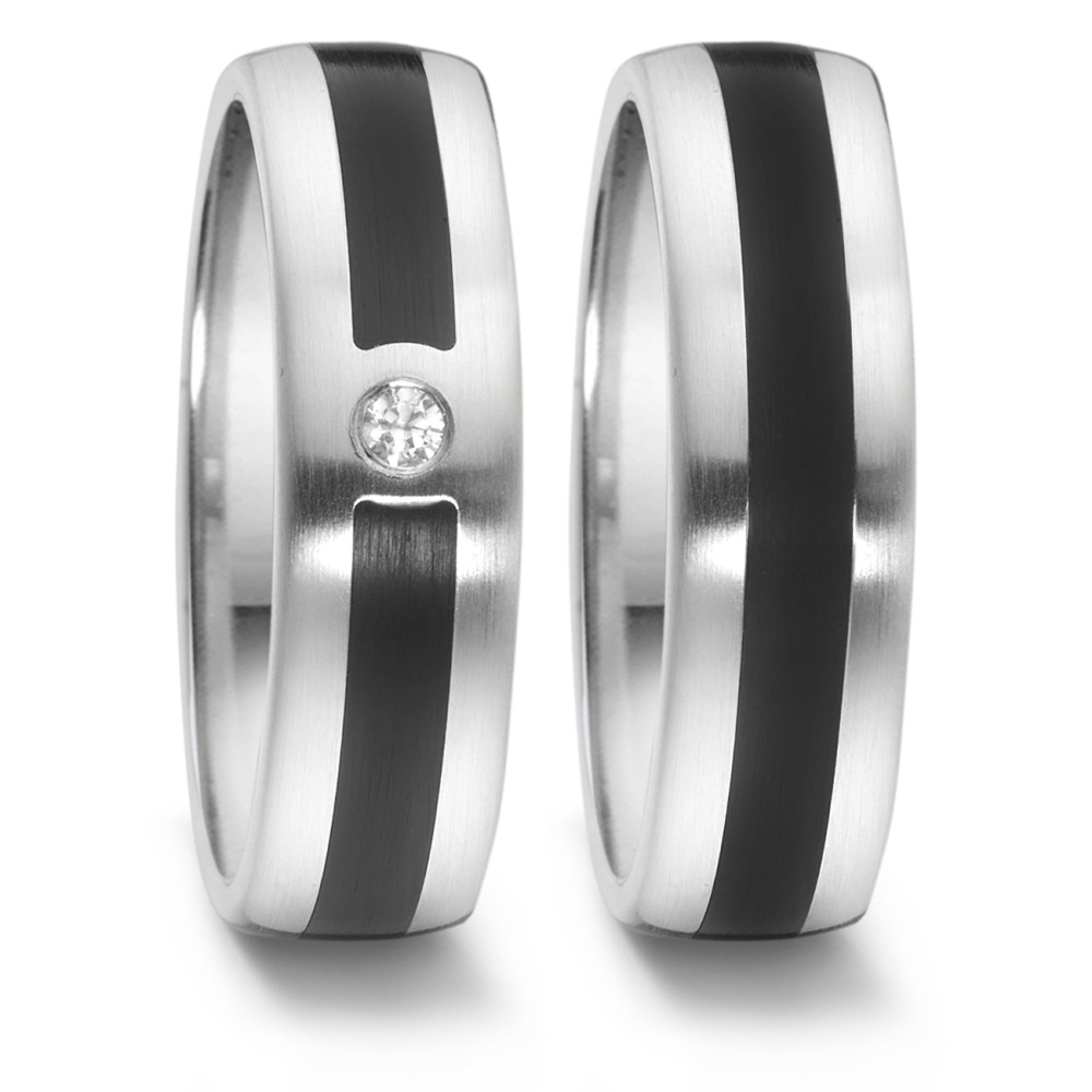 Partnerring TeNo Brillant Partnerring TaMoR mit Keramik 064.2514.D51.XX