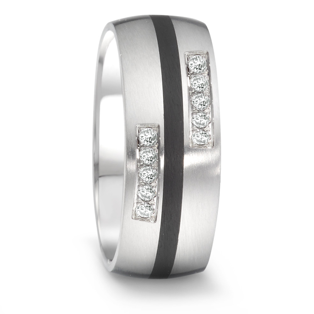 Partnerring TeNo Brillant Partner Ring Tamor mit BrillantenTW/si und Keramik 064.26P01.D50.XX