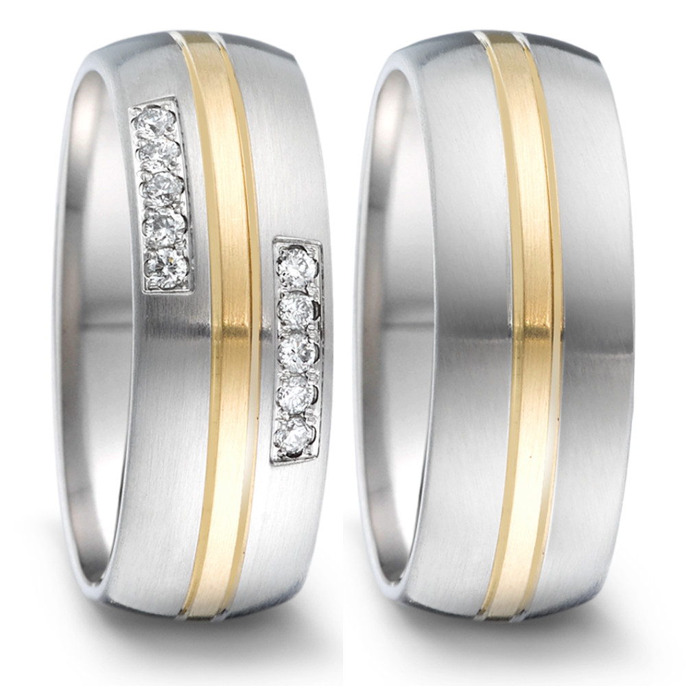 Partnerring TeNo Brillant Partnerring Tamor mit 10 BrillantenTW/si und 18 Karat Gold 068.26P01.D50.XX
