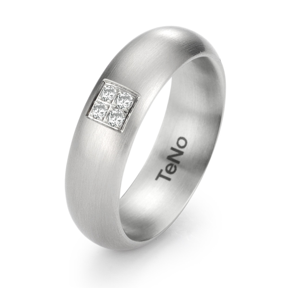 Fingerring TeNo Brillant Ring LuVa mit 4 Brillanten im Pavée 069.06P01.XX