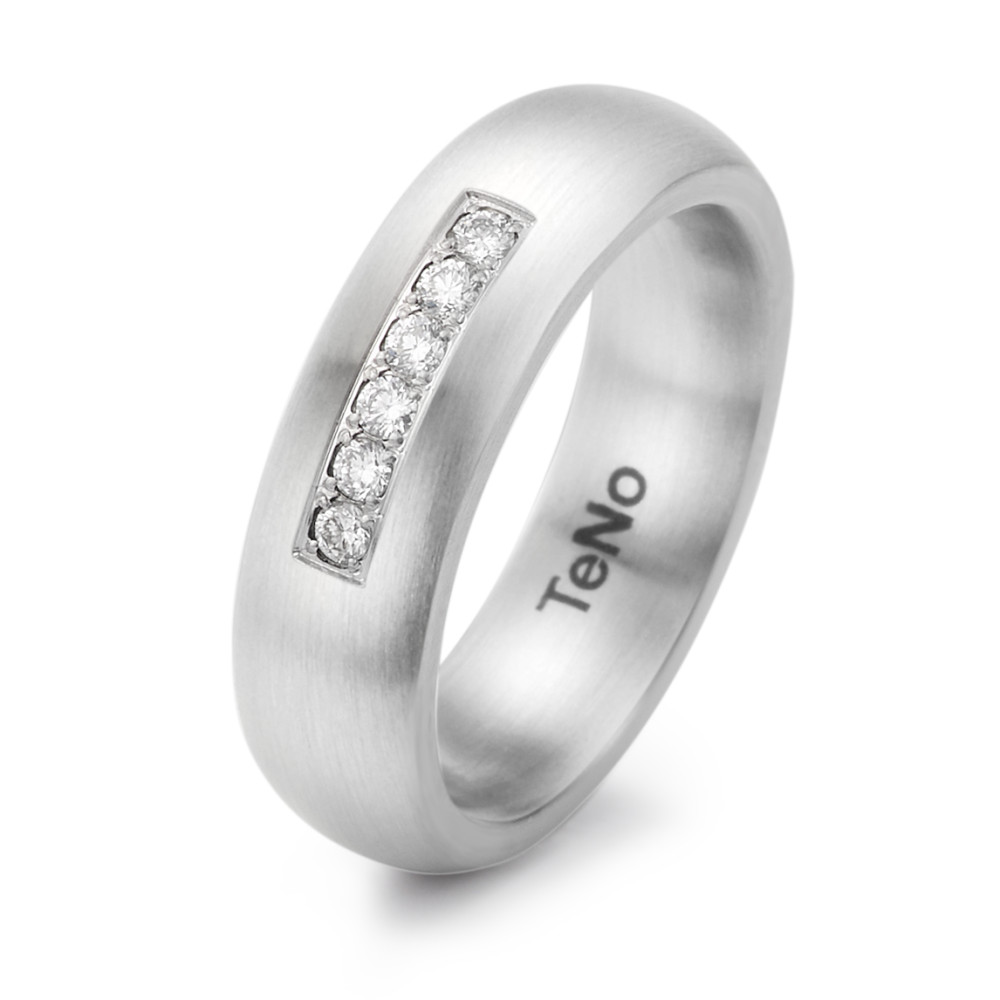 Fingerring TeNo Brillant Ring LuVa mit 6 Brillanten im Pavée 069.06P02.XX