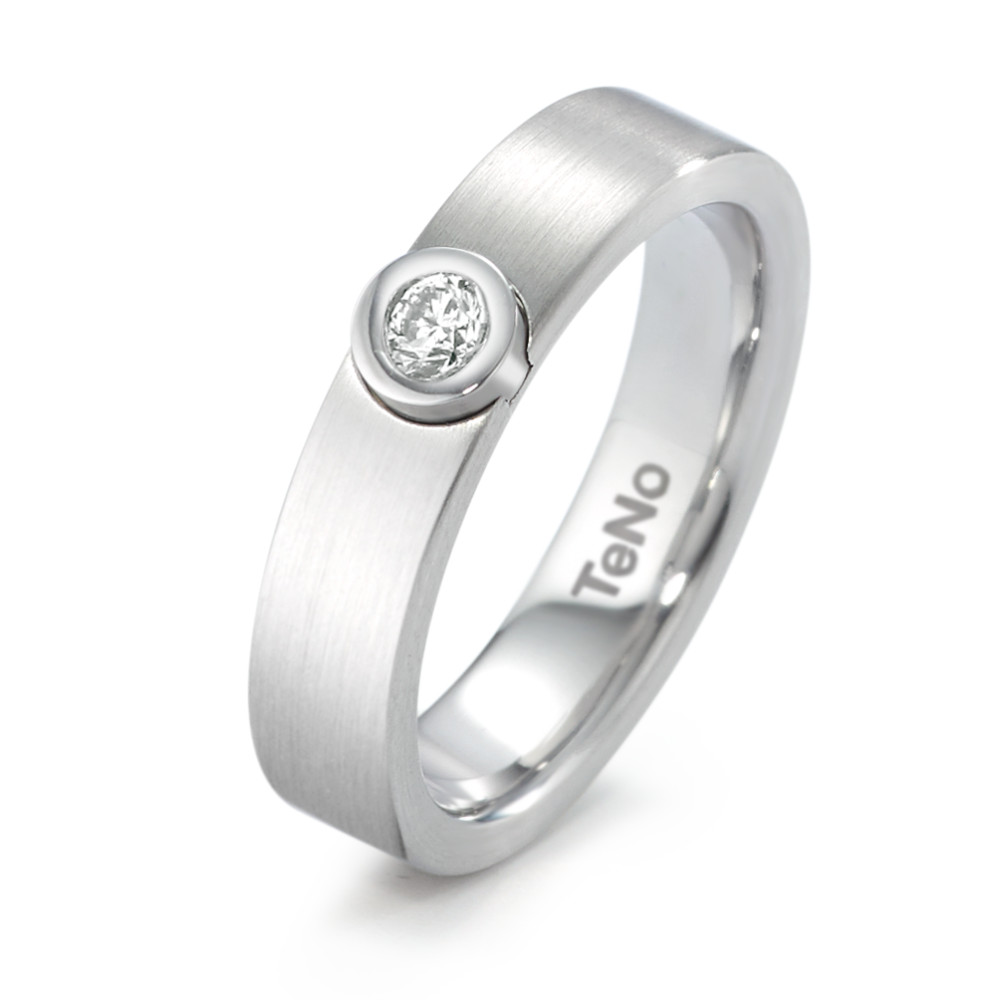 Fingerring TeNo Solitaire Ring mit Brillant 0,06 ct. TW/si  069.18Z17.XX