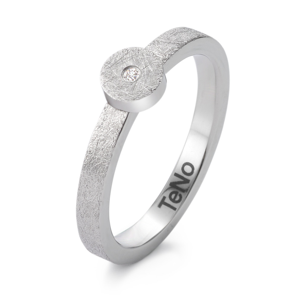 Fingerring TeNo Design Ring Topa eismattiert mit Brillant 0,012ct.TW/si 369.2413.XX