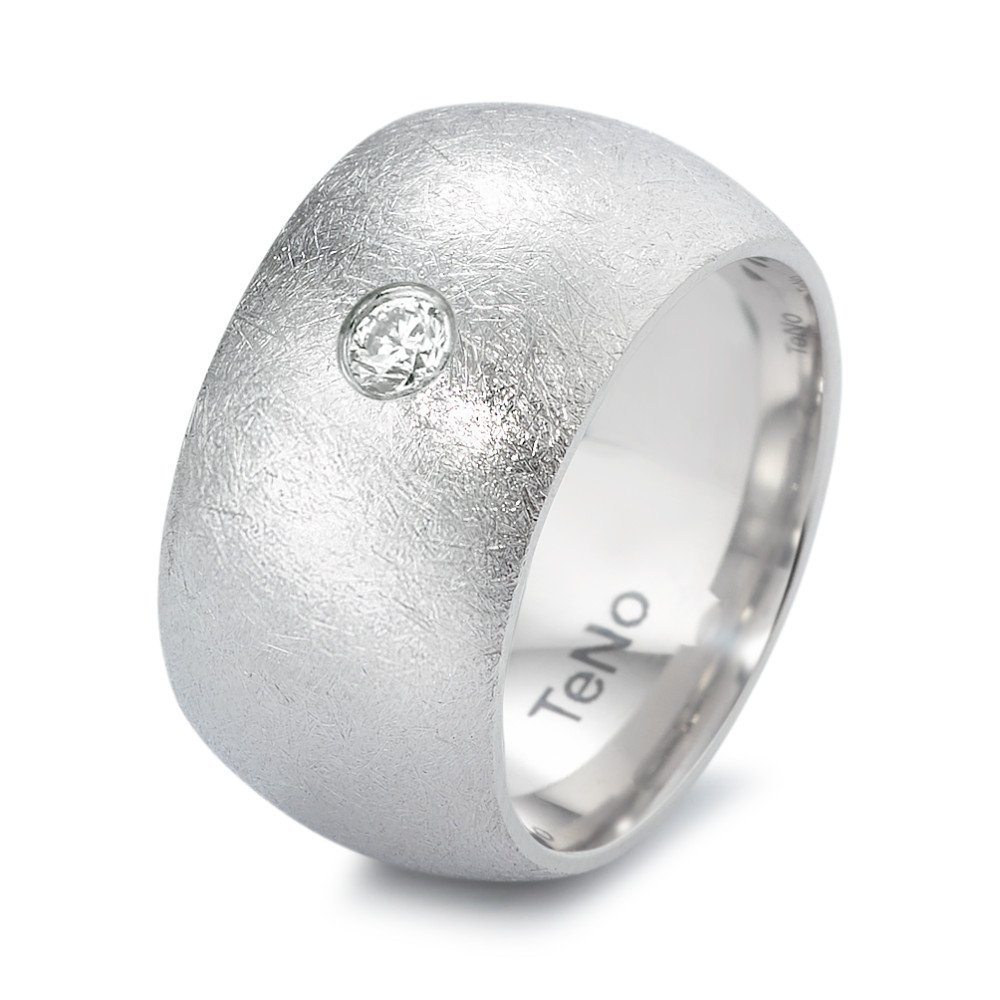 Fingerring TeNo Ring AURA eismatt mit Brillant 0,10 ct 369.3511.XX