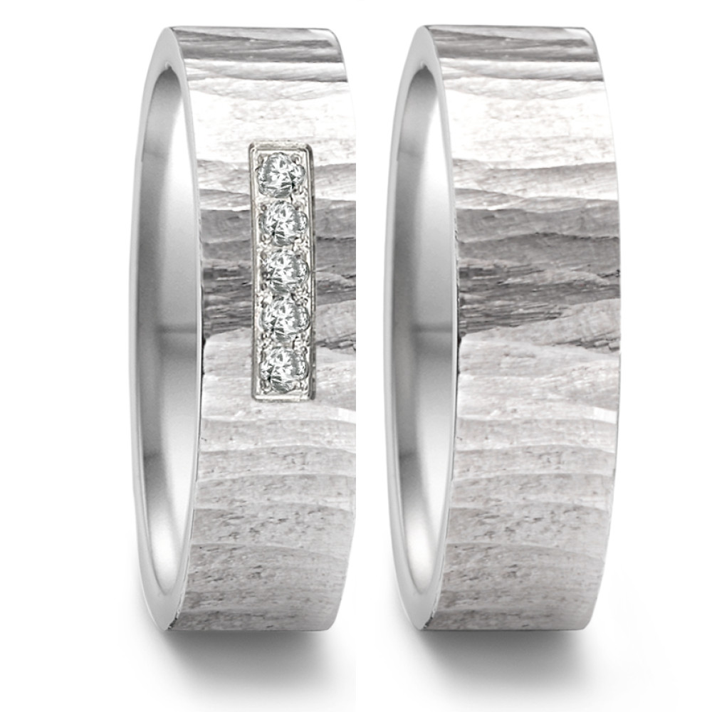 Partnerring (9) Groove light + 5x 0,008ct paveé 469.13P05.XX