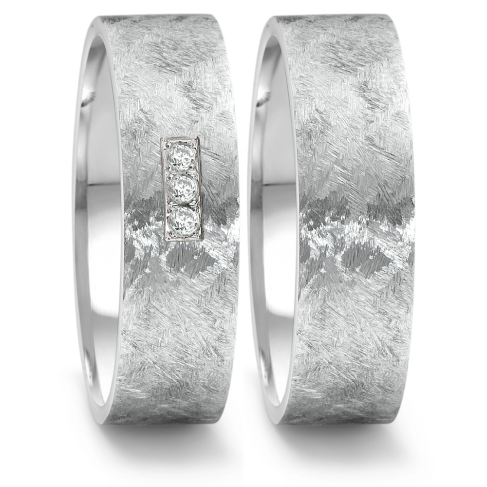 Partnerring (16) criss cross + 3x 0,02ct paveé 569.22P03.XX