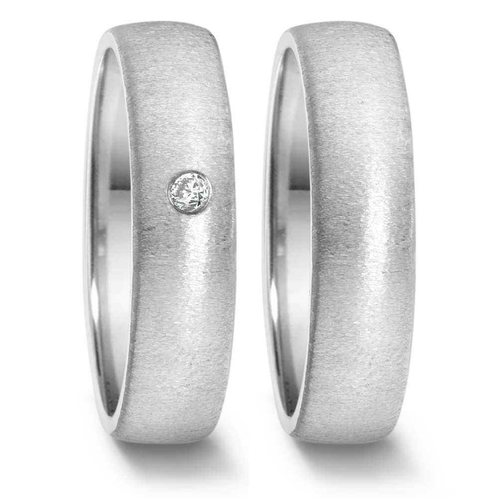 Partnerring (22) crash + 1x 0,04ct eingerieben  669.2514.XX