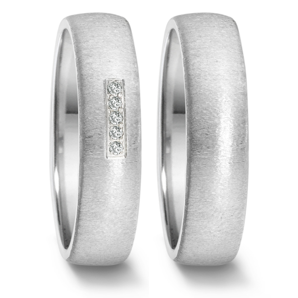 Partnerring (23) crash + 5x 0,008ct paveé  669.25P05.XX