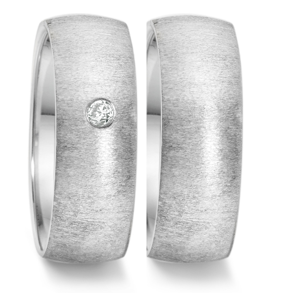 Partnerring (29) crash + 1x 0,06ct eingerieben  669.2617.XX