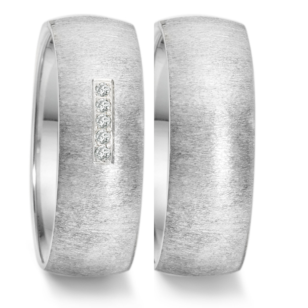 Partnerring (30) crash + 5x 0,008ct paveé  669.26P05.XX
