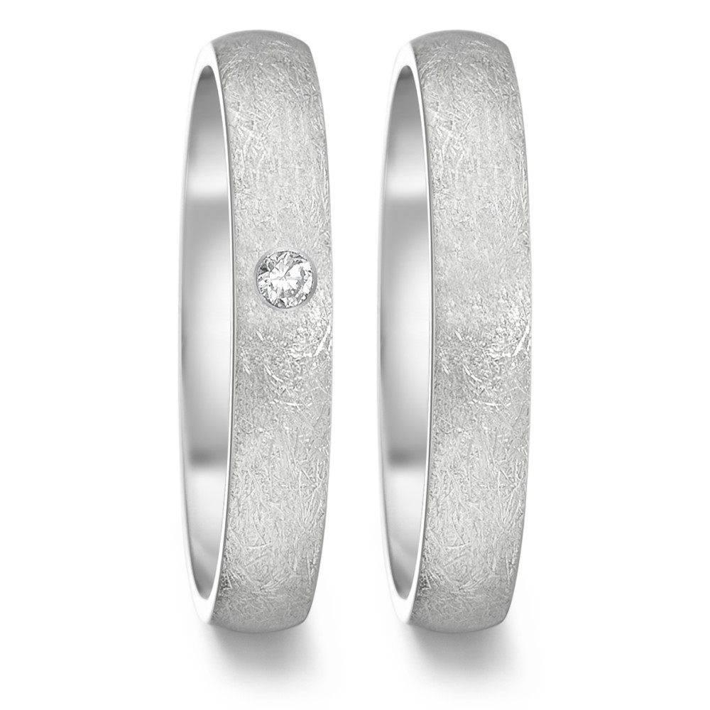 Partnerring TeNo Partnerring TAMOR ICE, 0,04 ct. TW/si, eismattiert, Ringschiene: oval 4 mm - comfort fit 369.6014.XX